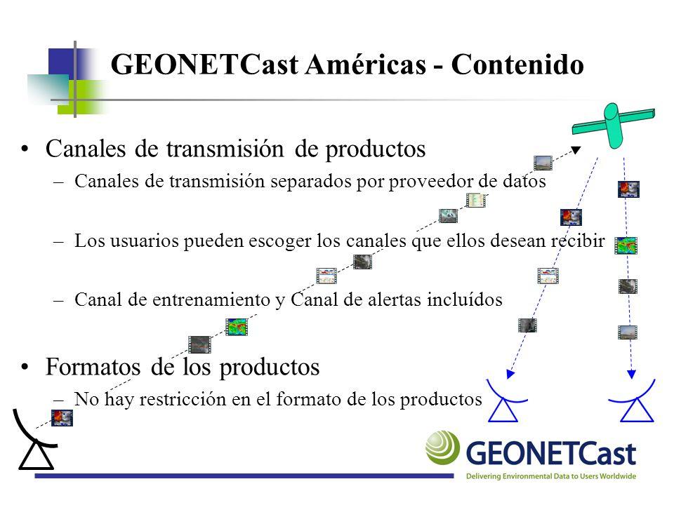 GEONETCast Américas - Contenido