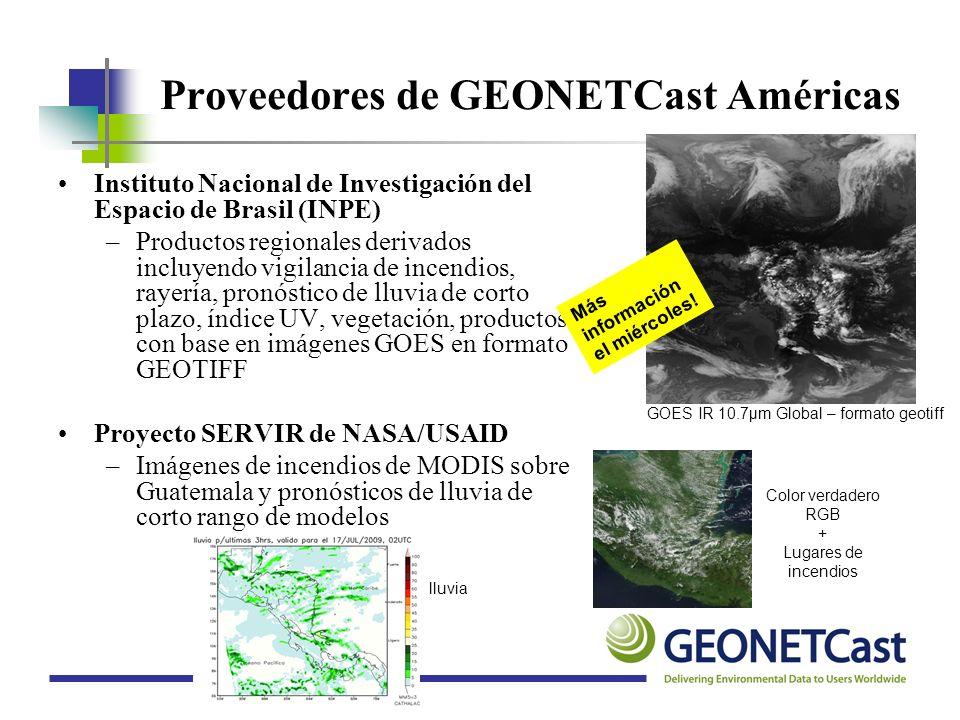 Proveedores de GEONETCast Américas