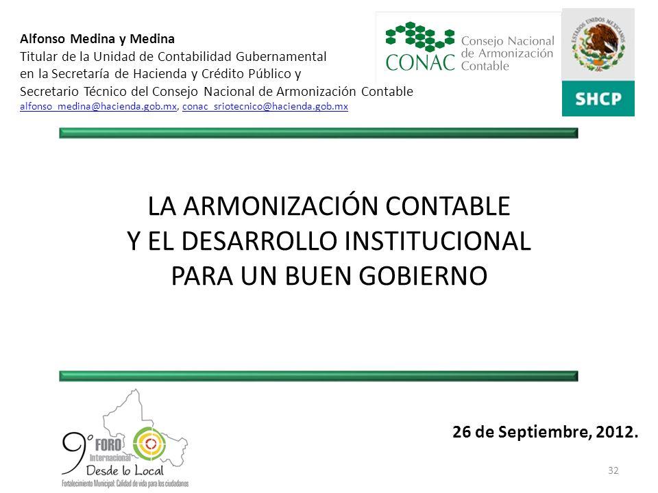 LA ARMONIZACIÓN CONTABLE Y EL DESARROLLO INSTITUCIONAL