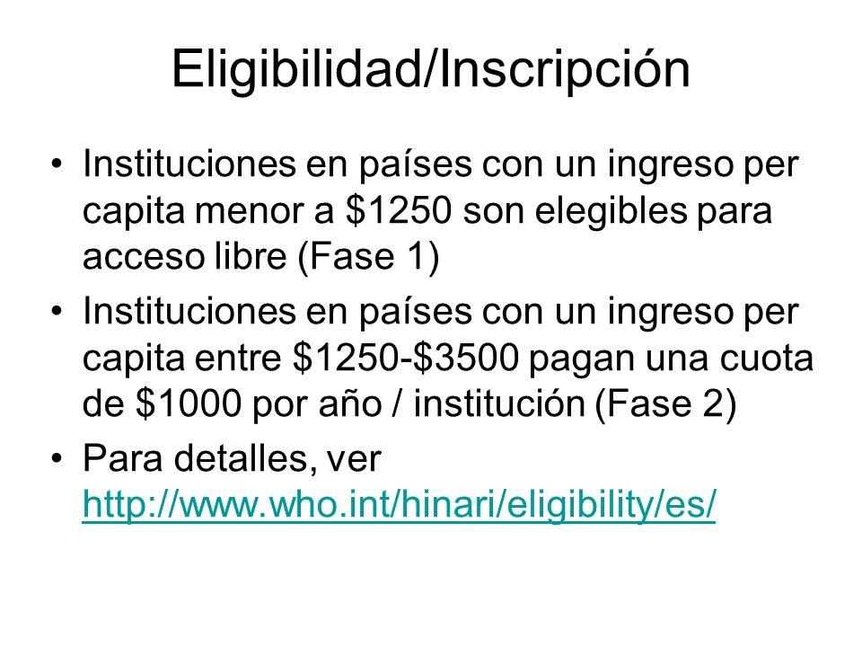 Eligibilidad/Inscripción