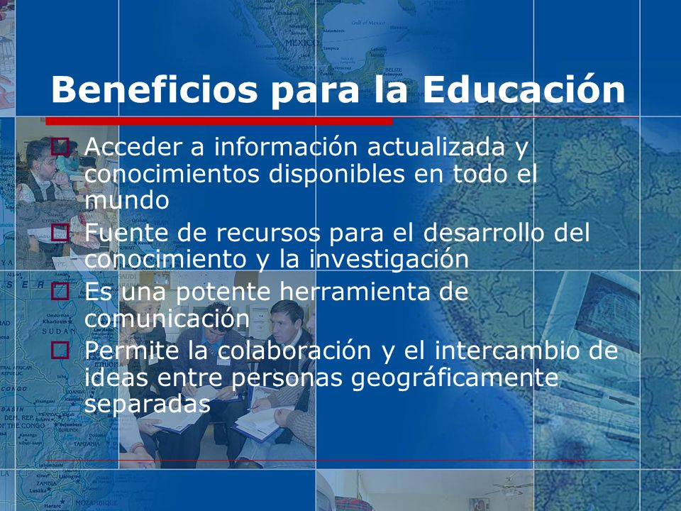 Beneficios para la Educación