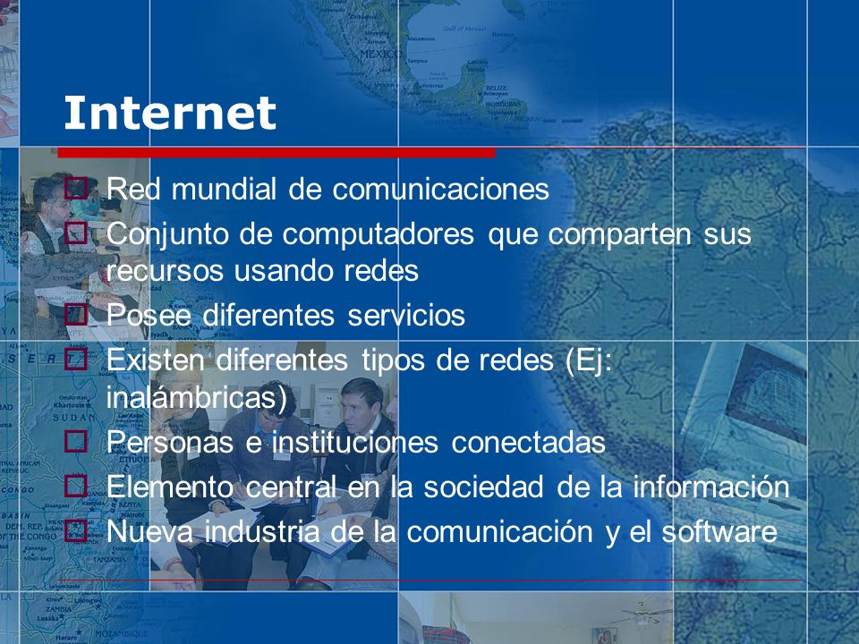 Internet Red mundial de comunicaciones