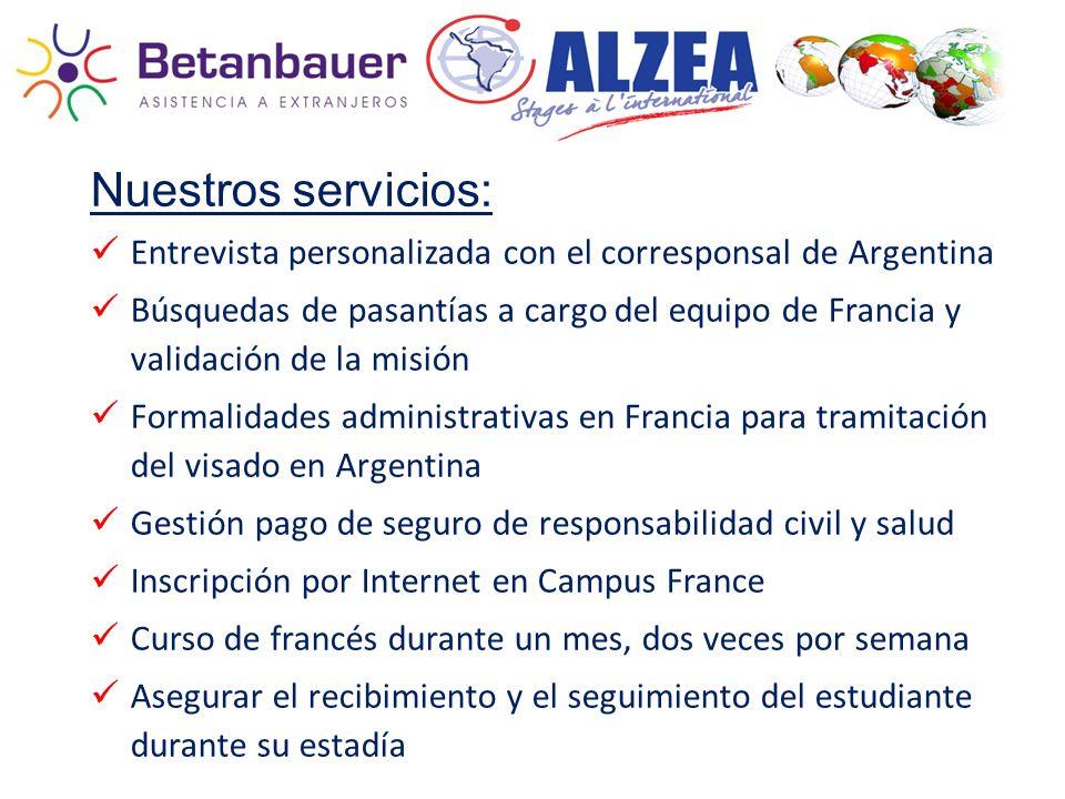 Nuestros servicios: Entrevista personalizada con el corresponsal de Argentina.