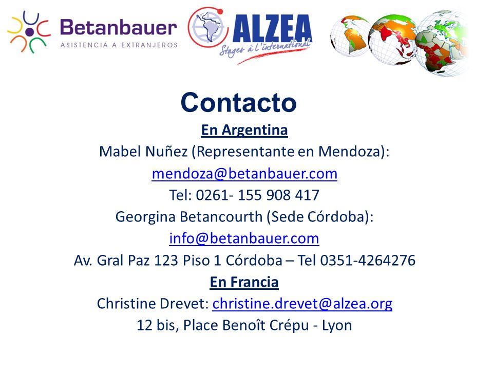 Contacto En Argentina Mabel Nuñez (Representante en Mendoza):