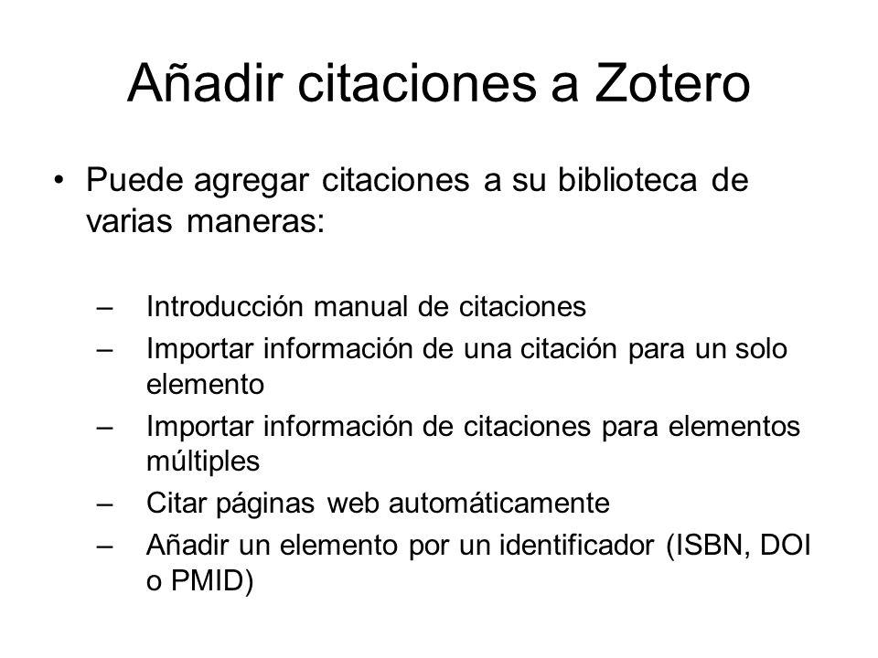 Añadir citaciones a Zotero