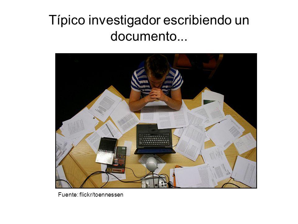 Típico investigador escribiendo un documento...