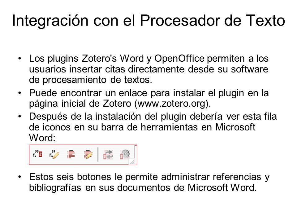 Integración con el Procesador de Texto