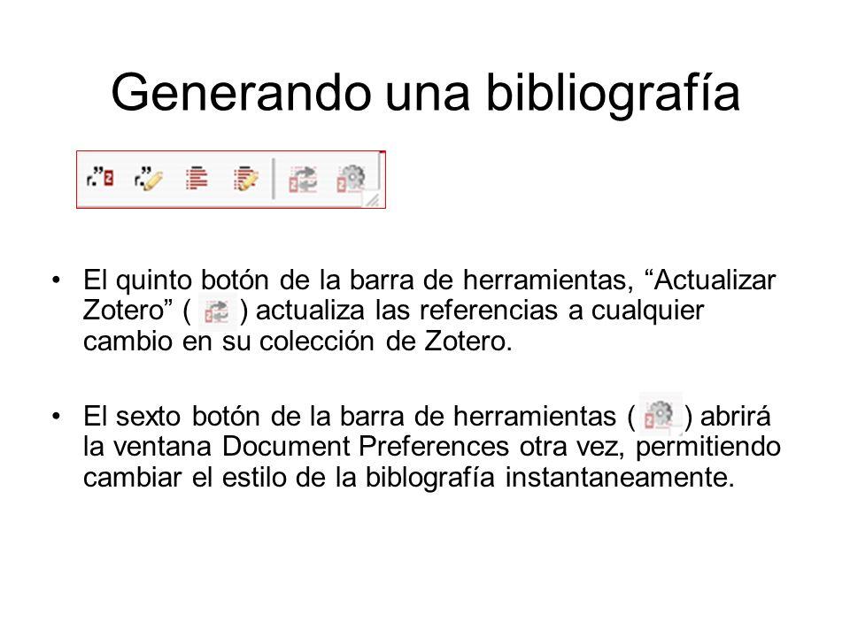 Generando una bibliografía