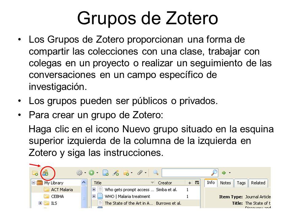 Grupos de Zotero