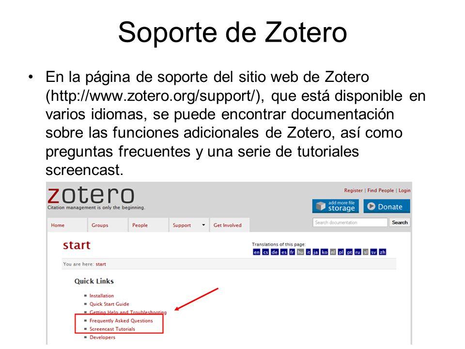 Soporte de Zotero