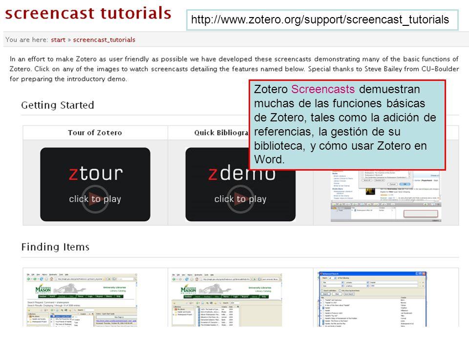 http://www.zotero.org/support/screencast_tutorials