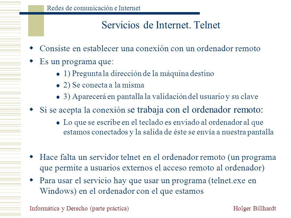 Servicios de Internet. Telnet