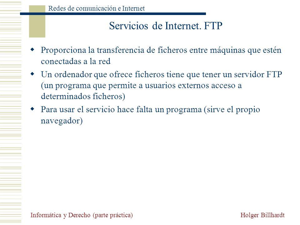 Servicios de Internet. FTP