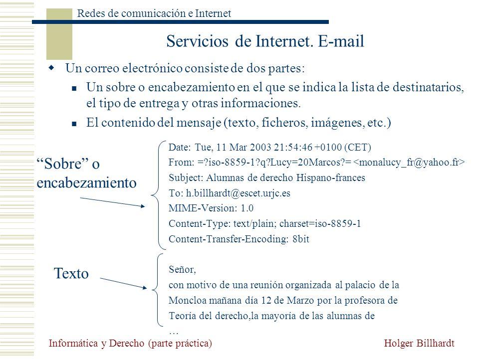 Servicios de Internet. E-mail