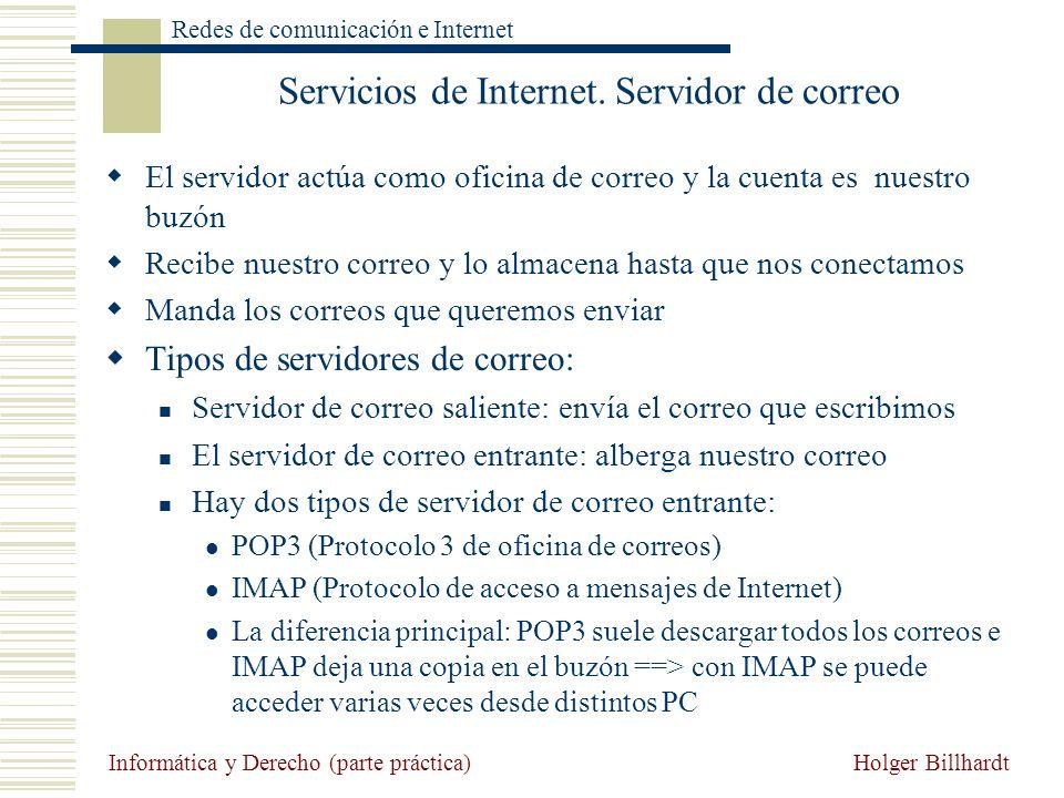 Servicios de Internet. Servidor de correo