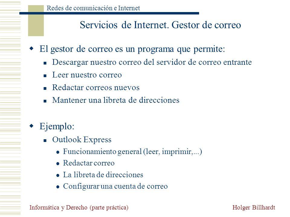 Servicios de Internet. Gestor de correo