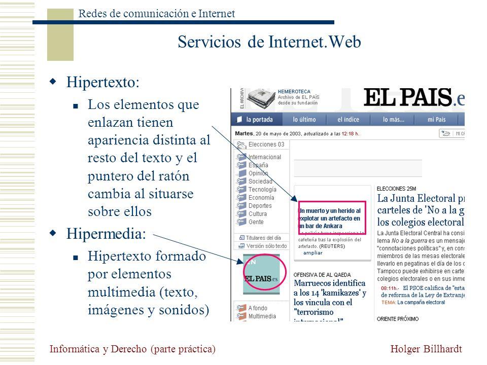 Servicios de Internet.Web