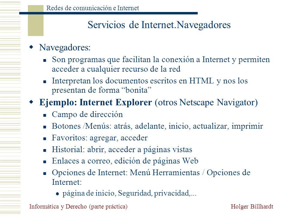 Servicios de Internet.Navegadores