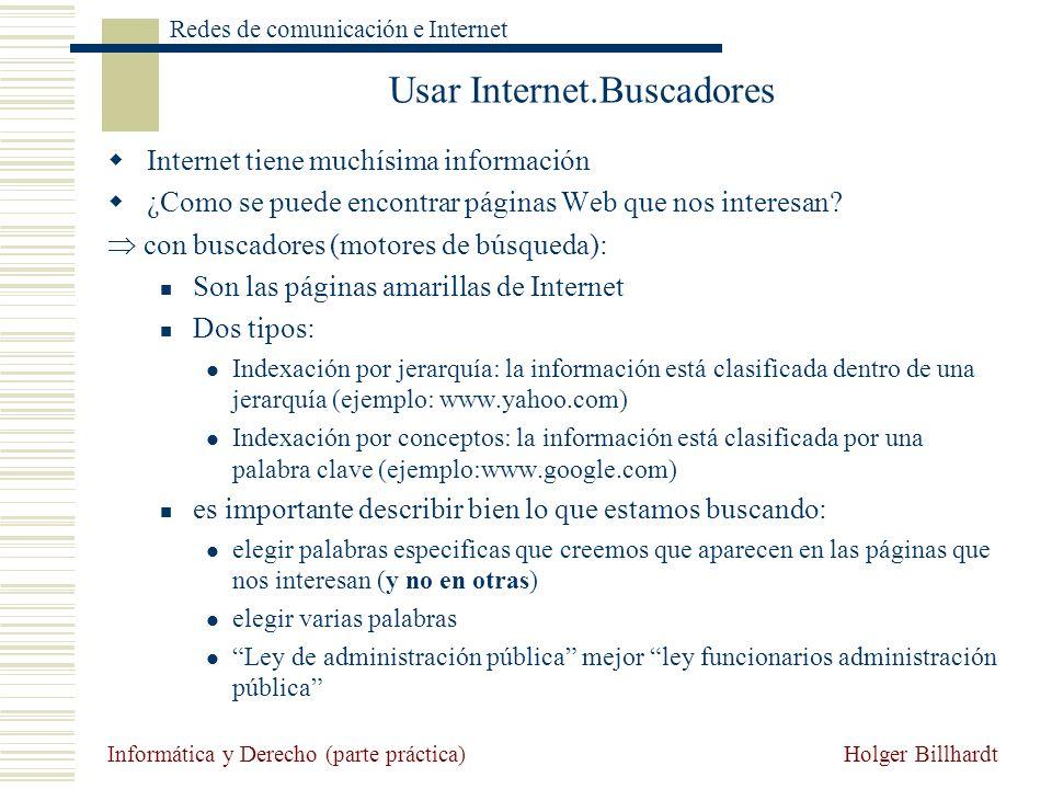 Usar Internet.Buscadores