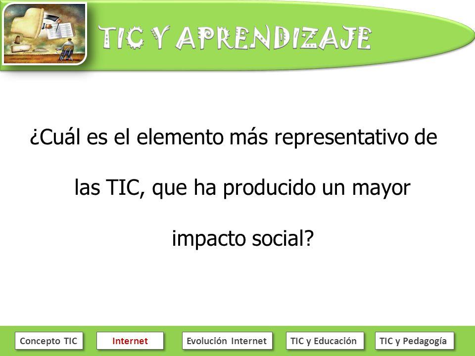 ¿Cuál es el elemento más representativo de las TIC, que ha producido un mayor impacto social