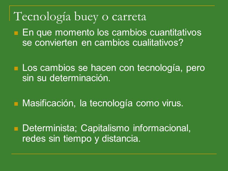 Tecnología buey o carreta