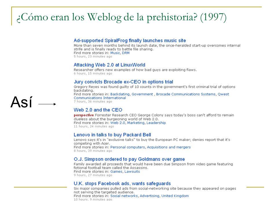 ¿Cómo eran los Weblog de la prehistoria (1997)