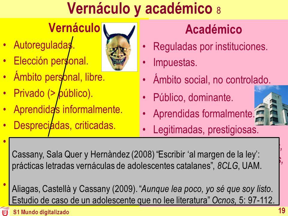 Vernáculo y académico 8 Vernáculo Académico Autoreguladas.