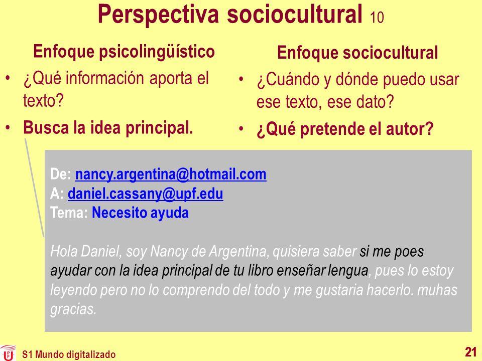 Perspectiva sociocultural 10