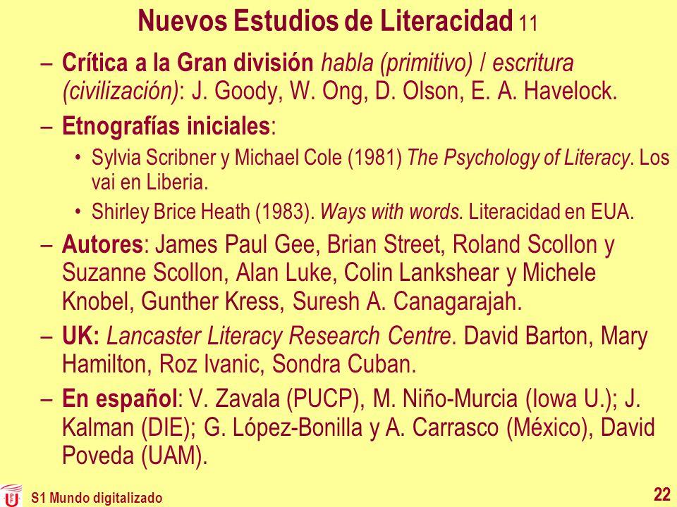Nuevos Estudios de Literacidad 11