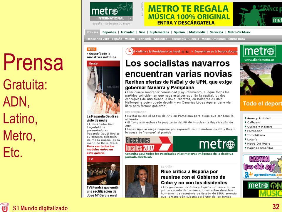 Prensa Gratuita: ADN, Latino, Metro, Etc.