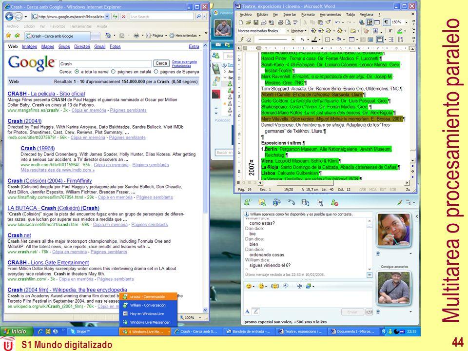 Multitarea o procesamiento paralelo