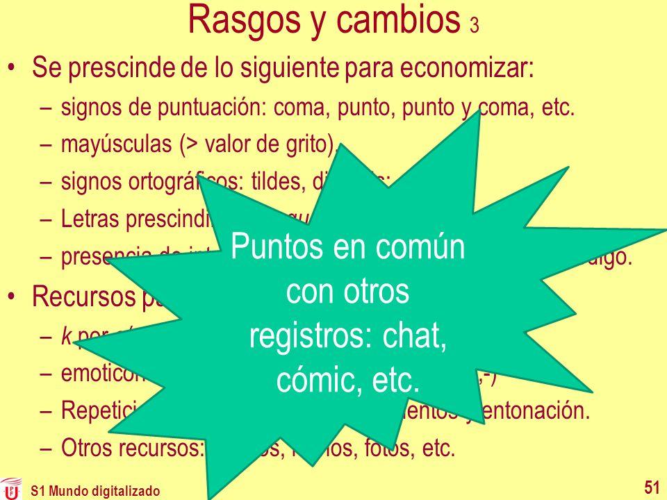 Puntos en común con otros registros: chat, cómic, etc.