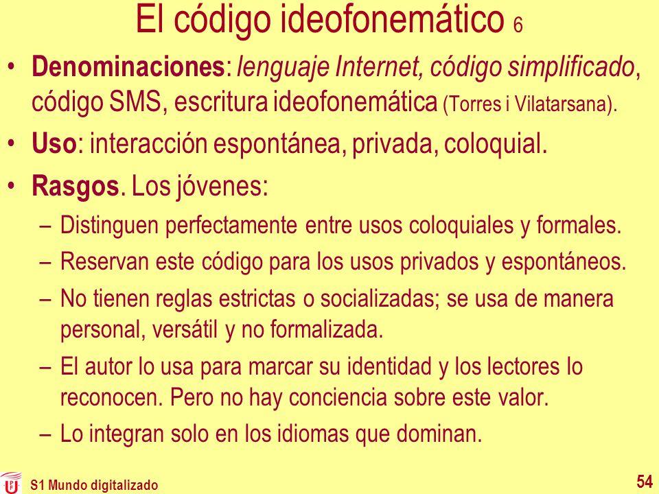 El código ideofonemático 6