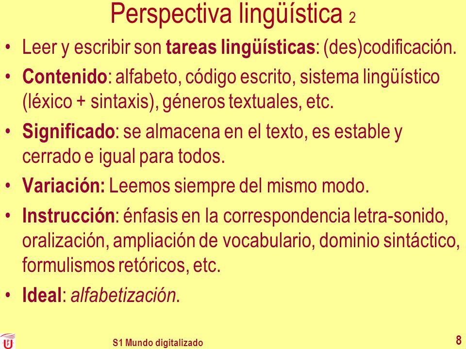 Perspectiva lingüística 2