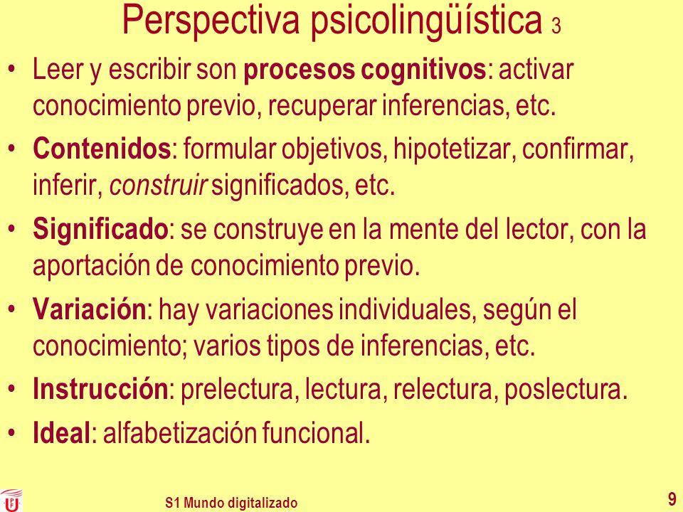 Perspectiva psicolingüística 3