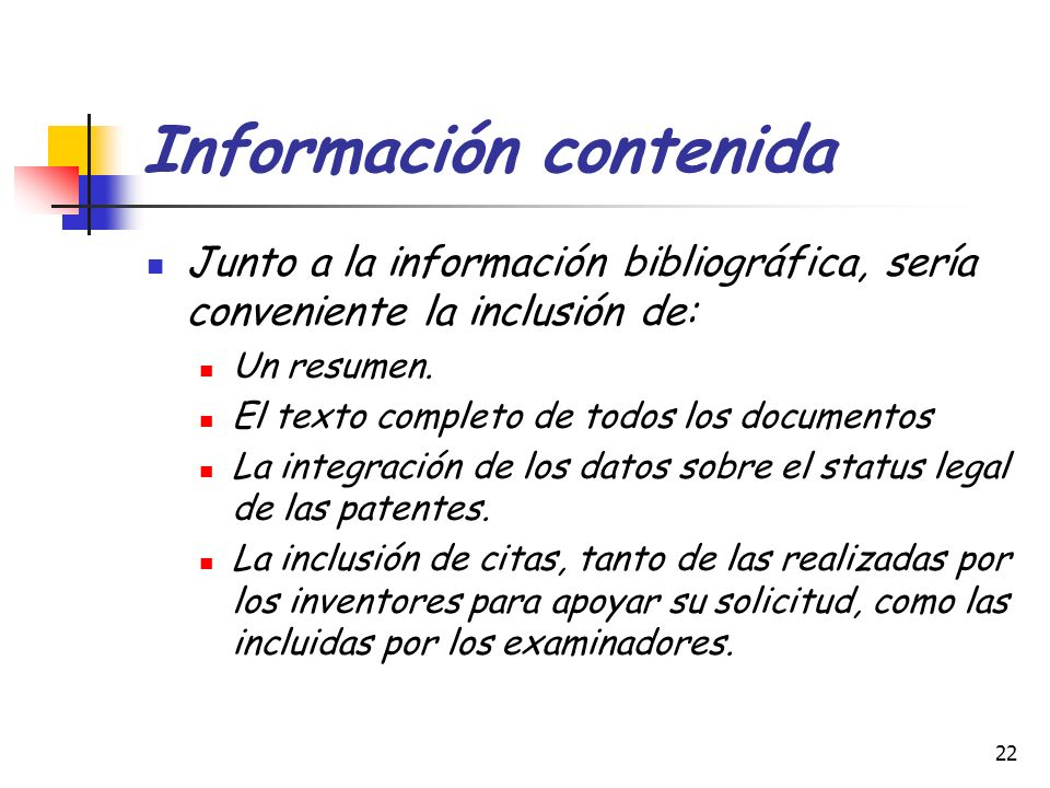 Información contenida