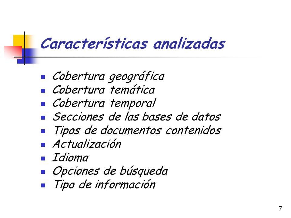 Características analizadas