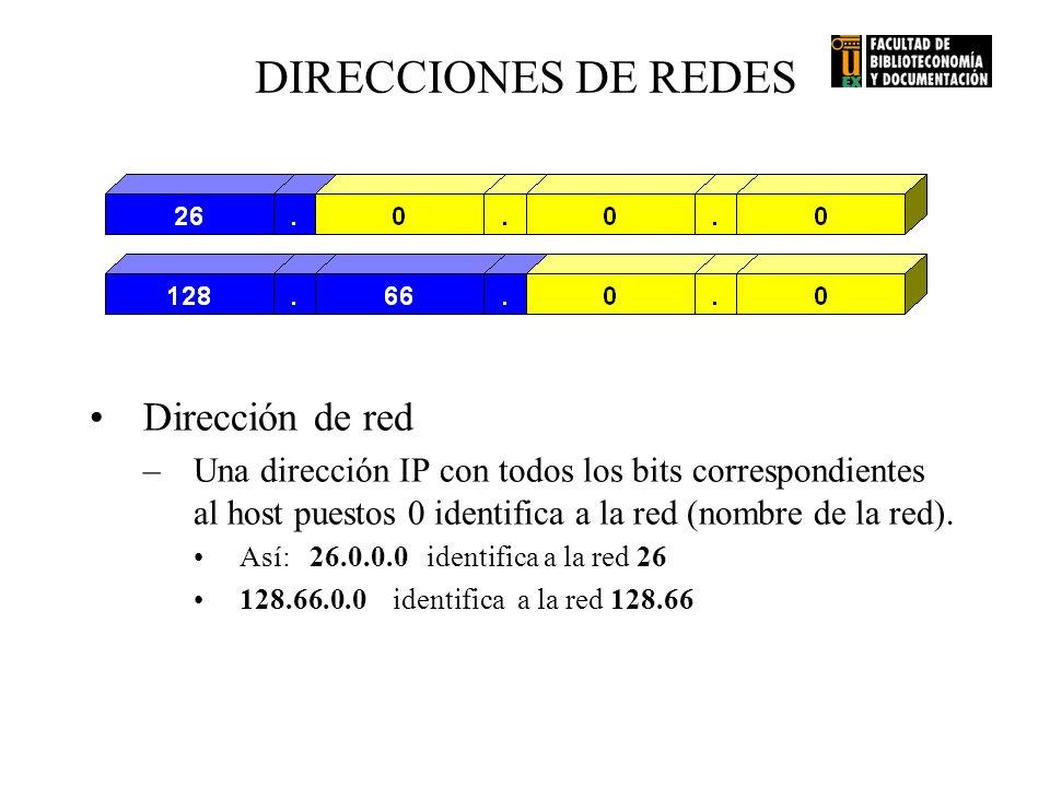 DIRECCIONES DE REDES Dirección de red