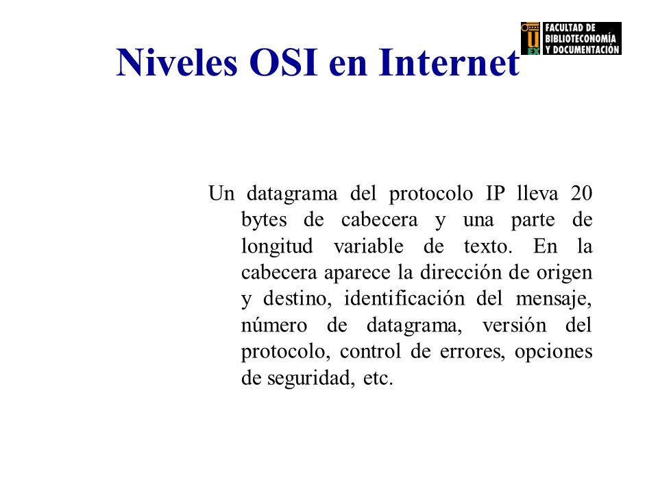 Niveles OSI en Internet