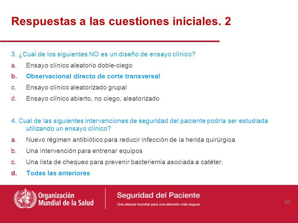 Respuestas a las cuestiones iniciales. 2