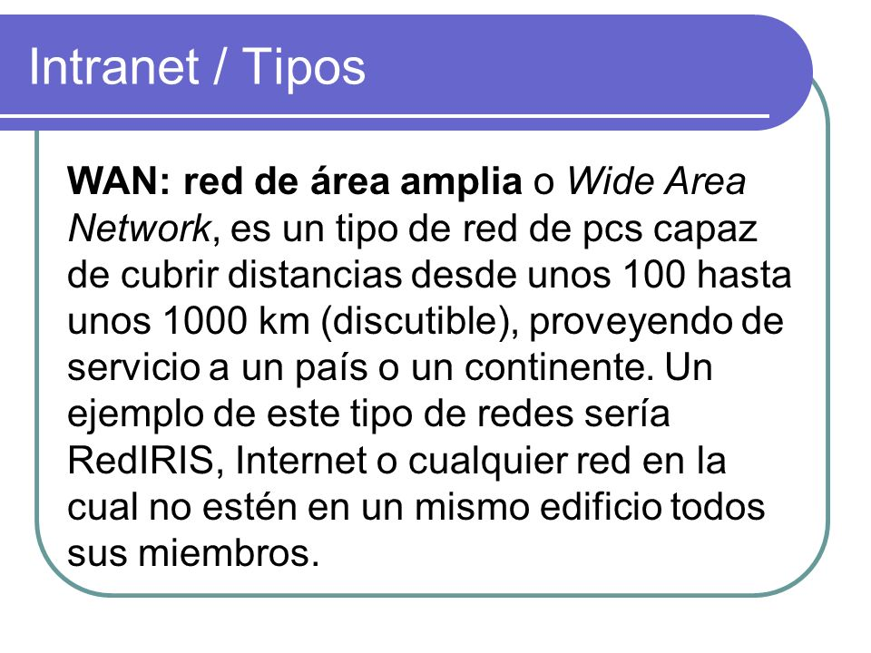 Intranet / Tipos