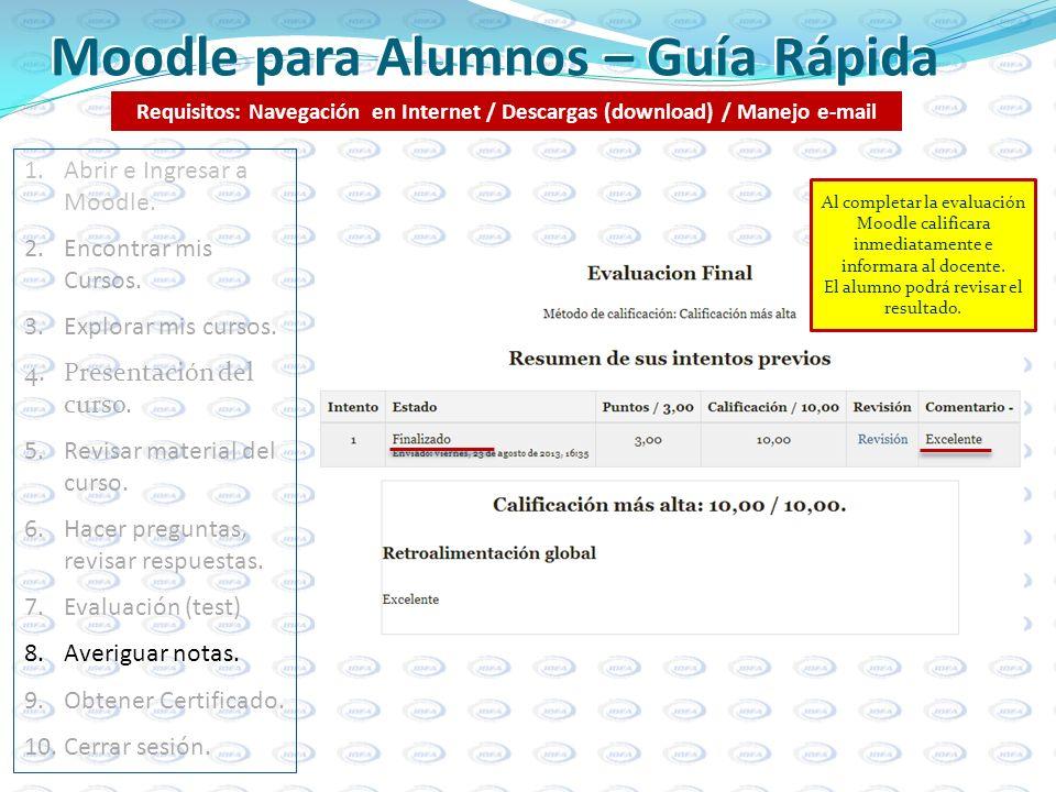 Moodle para Alumnos – Guía Rápida
