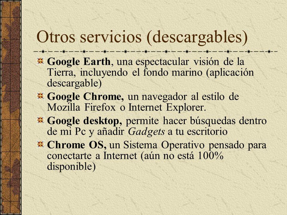 Otros servicios (descargables)