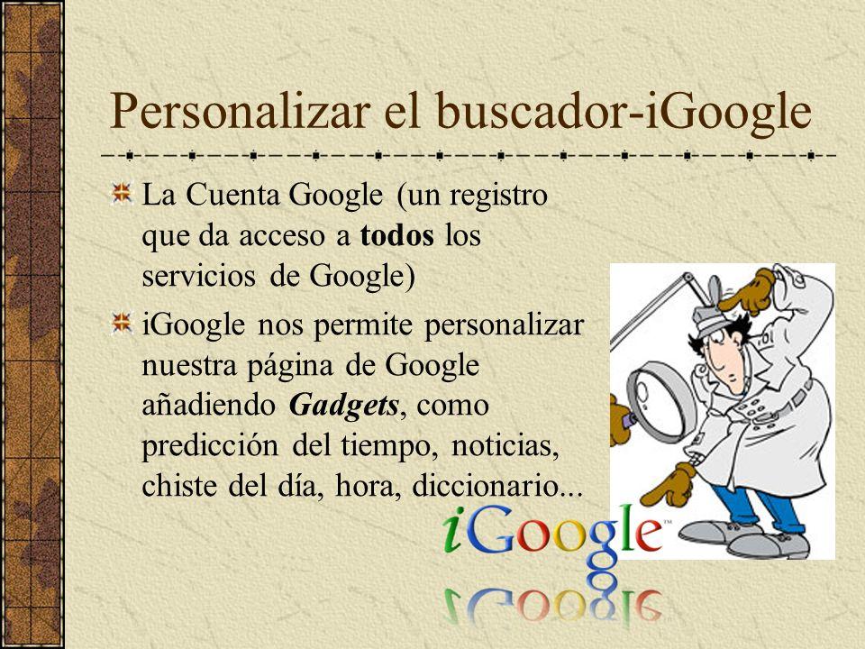 Personalizar el buscador-iGoogle