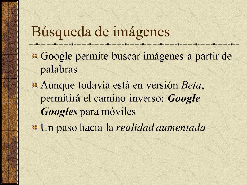 Búsqueda de imágenes Google permite buscar imágenes a partir de palabras.