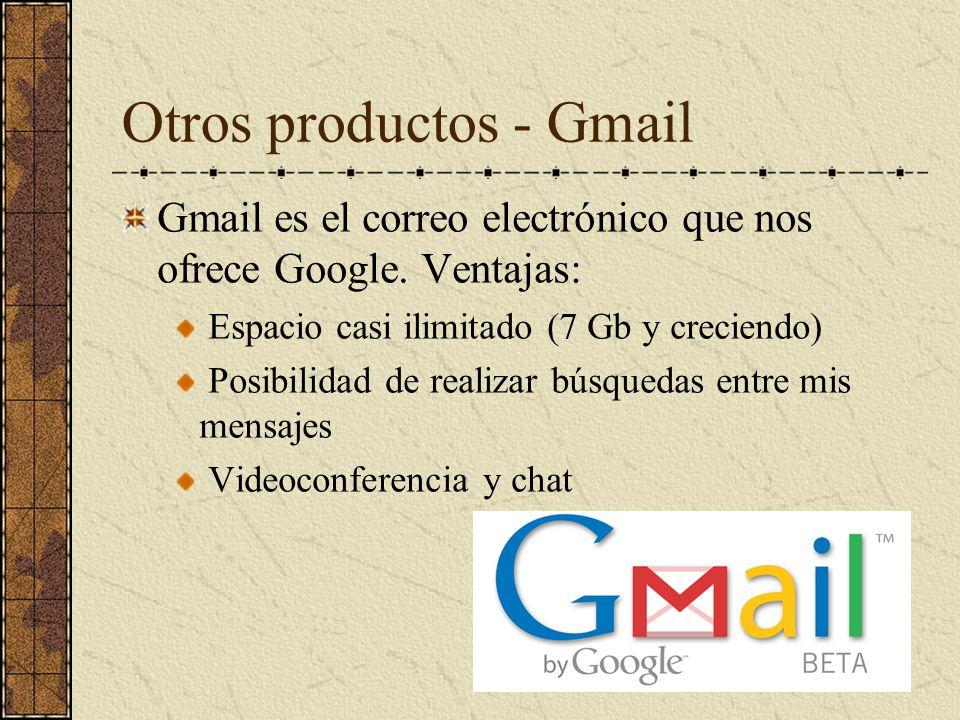 Otros productos - Gmail