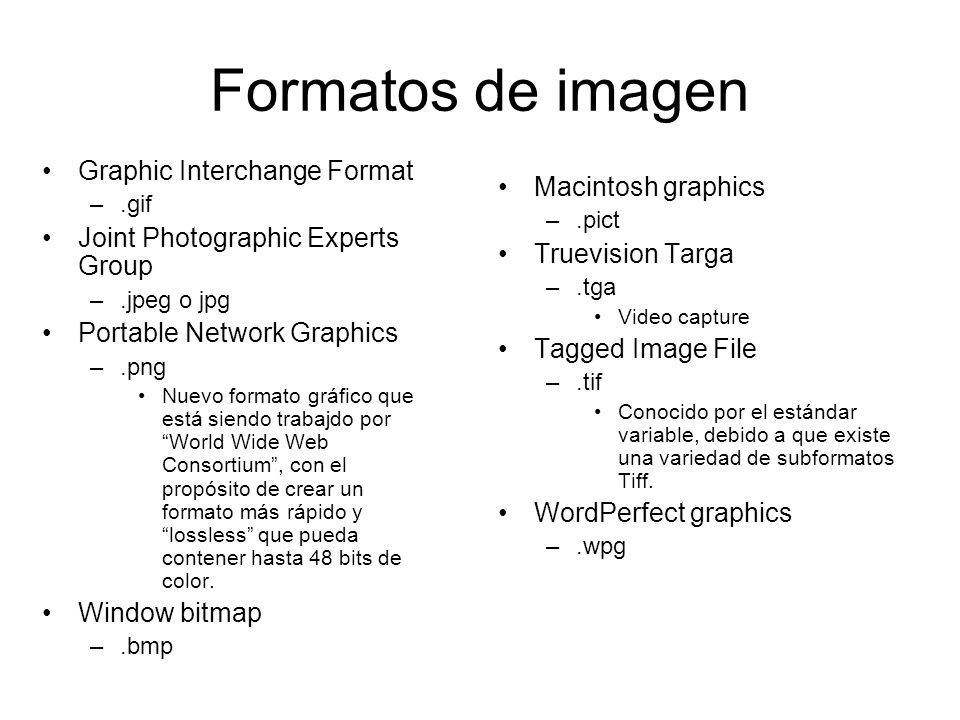 Formatos de imagen Graphic Interchange Format Macintosh graphics