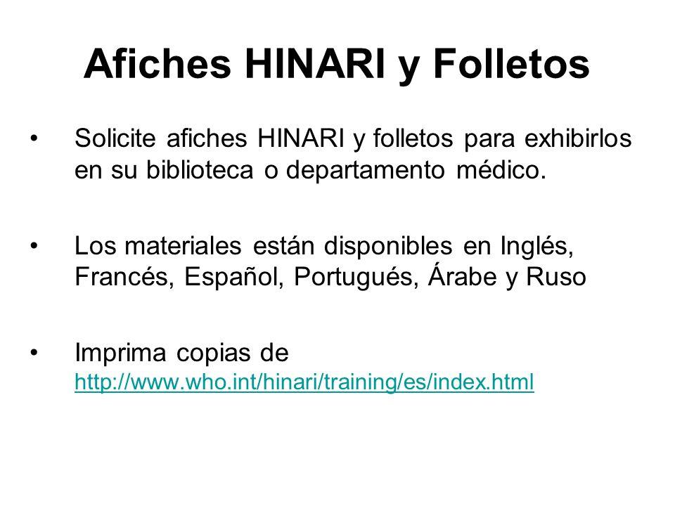 Afiches HINARI y Folletos