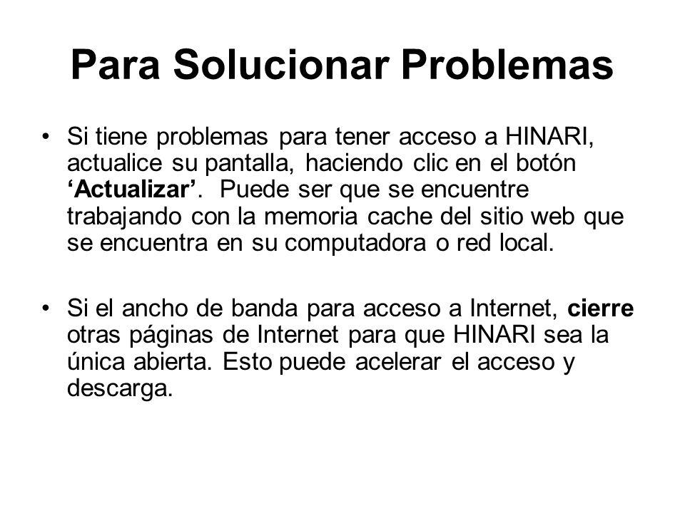 Para Solucionar Problemas