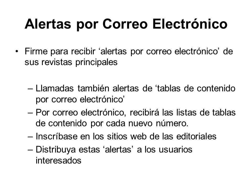 Alertas por Correo Electrónico